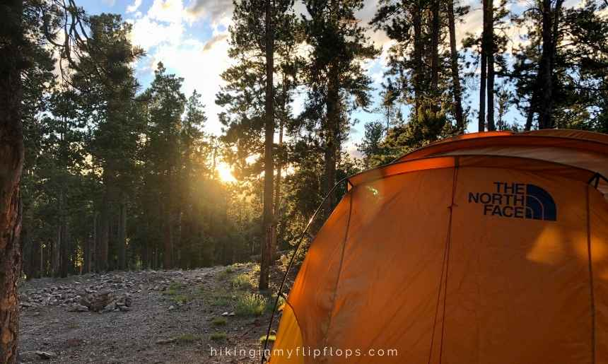 camping near Boulder Co at Golden Gate Canyon State Park