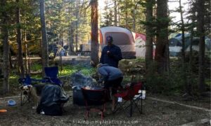 camping at Pawnee campground near Boulder CO