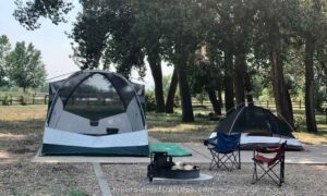 tent camping near Boulder at St Vrain State Park