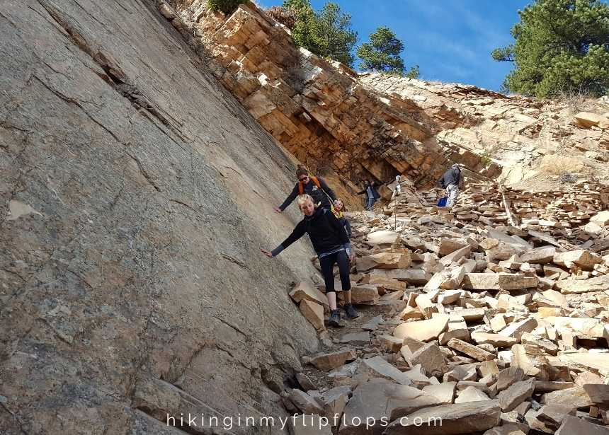 woods quarry hiking trail in Boulder CO