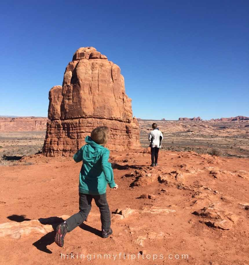 running around the red rocks of Canyonlands National Park