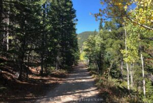 wide, flat hiking trail in Nederland CO