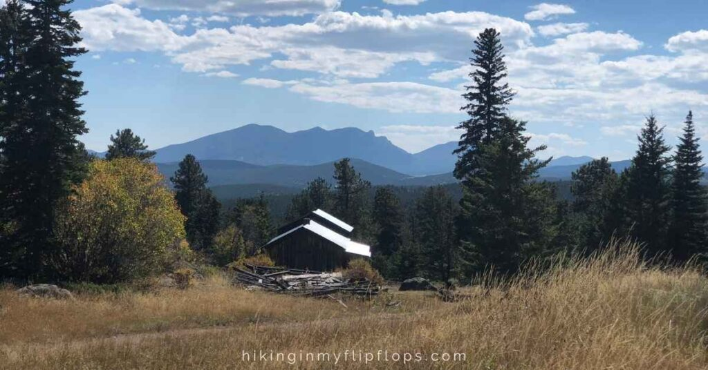 views from the blue bird mine complex at caribou ranch open space in nederland colorado