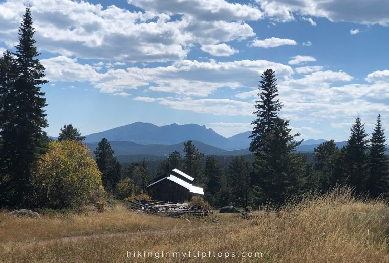 views from the Bluebird Mine Complex at Caribou Ranch Open Space