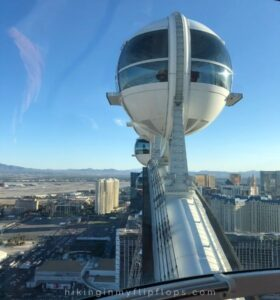 views from the High Roller Observation Wheel in Las Vegas Nevada