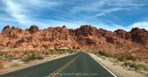 entering the valley of fire state park