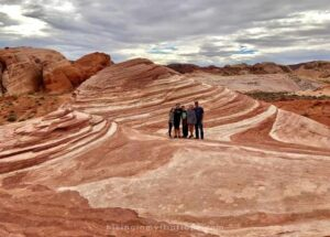 photo op at the Fire Wave, one of the Valley of Fire trails