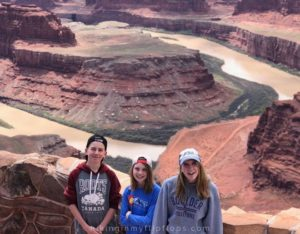 the Colorado River view from Dead Horse Point Overlook in Moab UT