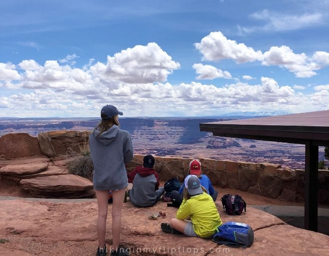 lunch with a view at dead horse point overlook