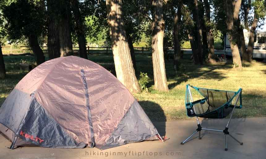 simple camping set up for beginners