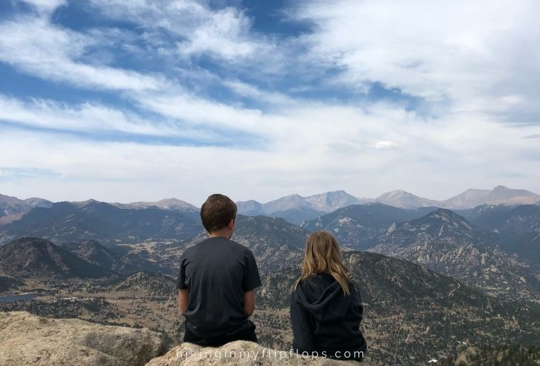 on the summit of Kruger Rock in Estes Park CO
