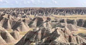 view of badlands national park from overlook