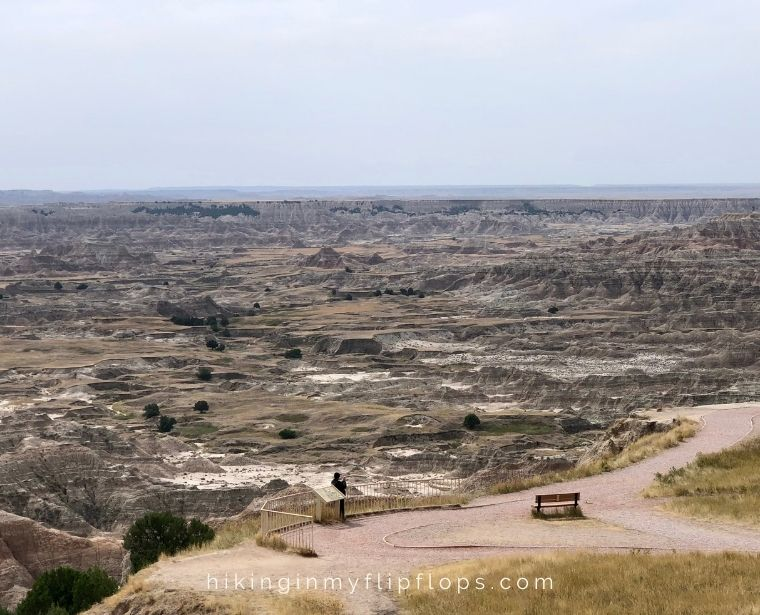 view from pinnacles overlook in the badlands