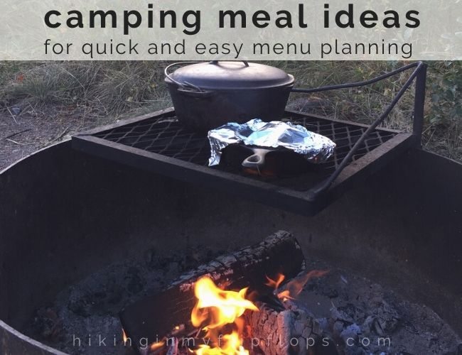 a meal cooking over a campfire is one of the best parts of a camping menu