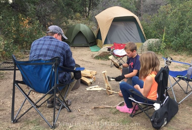 getting outside on a family camping trip