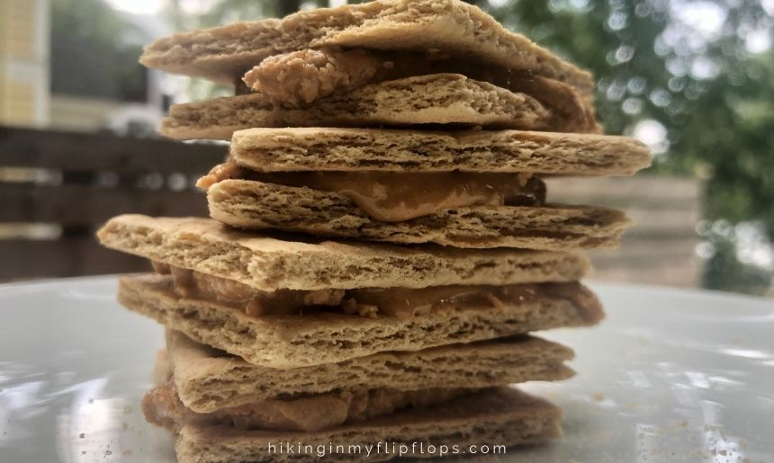 graham cracker sandwiches made with peanut butter
