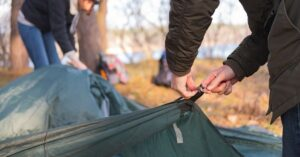 putting tent up in cold weather