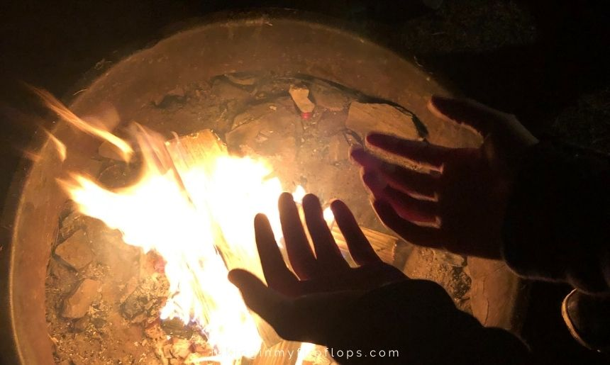 how to keep warm when camping in cold weather