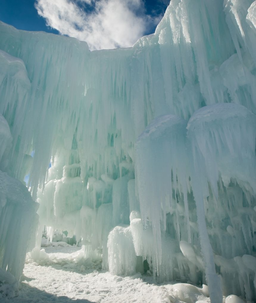 Dillon Ice Castles in Colorado during the day