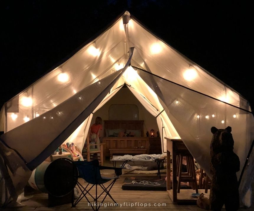 glamping tent is one of the different types of camping that comes with a little bit of luxury