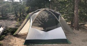 a tent with a lot of ventilation to help keep cool in hot weather