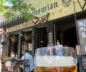 having a beer outside of the Bohemian Biergarten is our number one pick when spending 36 hours in boulder colorado