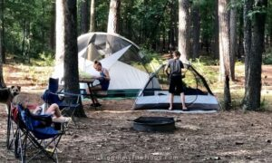 kids relaxing at the campground