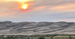 the sunset view is one of the best things to do at Great Sand Dunes National Park