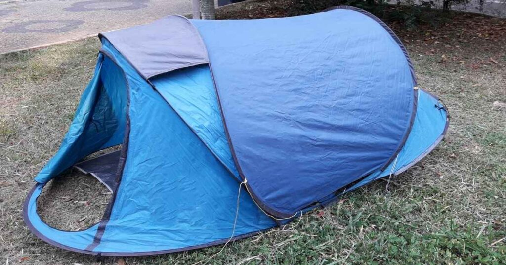 a pop-up or instant tent is the easiest tent to set up by yourself
